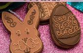Galletas de Pascua de chocolate con relleno de mantequilla de almendra