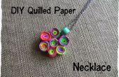 DIY collar de papel Quilled