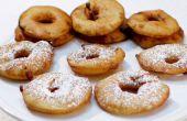 Buñuelo de manzana anillos
