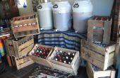 Cajones de cerveza de Brew casero con palets!