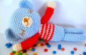 Patrón de ganchillo Amigurumi gratis Sleepy oso de peluche