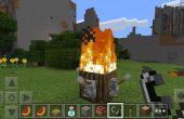 Quemador de la eternidad con madera de Minecraft