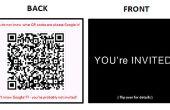 BRICOLAJE en invitaciones modernas: uso de tarjetas y códigos QR