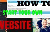 """""""Cómo iniciar su propio sitio web"""" rápida y fácil"""