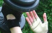 Crochet y gimnasio guantes de cuero