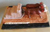 Escultura en cerámica: Bueyes, transporte de Ox