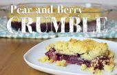 Cómo hacer pera y Berry Crumble