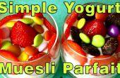 Yogurt hecho en casa Simple y Muesli receta de Parfait