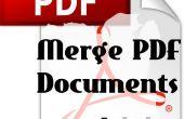 Cómo fusionar documentos PDF