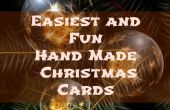 Más fácil y divertido mano hecho tarjetas de Navidad