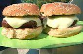 Hamburguesas de queso de Chile verde