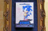 Arte retro juegos con Sonic the Hedgehog