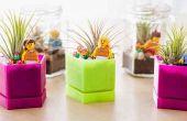 Cómo hacer mini Jardinera en tarro de cristal para decorar tu espacio de aprendizaje