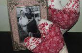 Cómo hacer almohadas de corazón Vintage