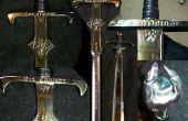 Fabricación de la espada por remoción de material