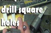 Sencilla herramienta para perforar los agujeros cuadrados