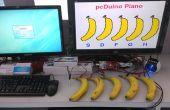 Un Piano con plátano como teclado accionado por pcDuino