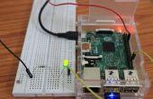 Cómo hacer tu primer sencillo llevó abrir y cerrar proyecto en Pi2 frambuesa