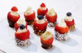 Queso crema rellenos de Chocolate fresas sumergidos