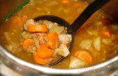 Sopa de verduras al jengibre con lentejas verdes!