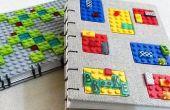 2 revistas LEGO - encuadernación copta