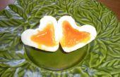 Impresionante huevo de desayuno en forma de corazón San Valentín