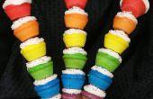 Pinchos de Cupcake arcoiris