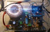 Plexiglás caja 4 amplificador de audio casero con poder supplay