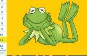 Cómo dibujar Kermit la rana (Muppet)