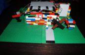 LittleBits Lego casa con abrepuertas de garage, molinos de viento y timbre