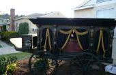 Antiguo coche fúnebre dibujado caballo - Halloween Prop Replica