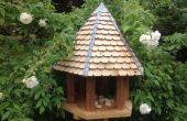 Mesa hexagonal de pájaro de madera reciclada