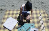 Pantalla de portátil playa