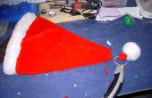 Cómo hacer un sombrero de Santa de parpadear