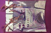 LIBRO del bosquejo púrpura