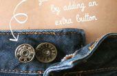 Añadir un botón extra a tus jeans para el mejor ajuste