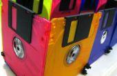 ¿Caja colorida del disco de