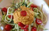 Enfriar espiral calabacín (crudo Spaghetti)