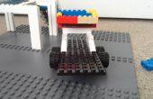 LEGO carrera de coches, remolque de coches de carrera y carro