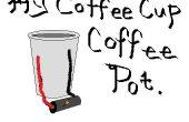 Pote del café taza de café