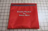 ¿Cómo hacer un bolsillo doble para una falda de nieve