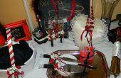 Pastel de boda DIY corte Utensilsand novia y novios gafas