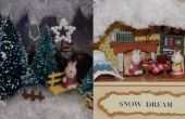 Casa de muñecas miniatura bricolaje en una caja de hojalata
