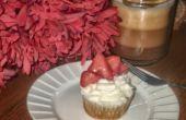 Torrija de Cupcakes con Frosting de crema batida