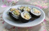 Rollos de Sushi simple en casa