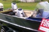 Conversión de barco de aluminio para bote bajo
