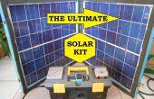 Ahorrador de energía de reserva todo en un kit con Panel solar plegable móvil