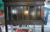 CABECERA de reciclado hecho con paneles de madera