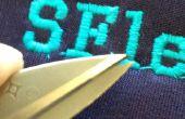 CNC del bordado impresión SF y SFlettering con sólo el menú