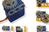 Motor servo adaptado a Lego